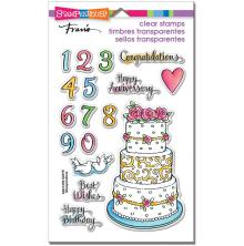 Stampendous Perfectly Clear Stamps 7.25X4.625 - Cake Tiers