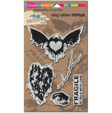 Stampendous Andy Skinner Cling Stamps 9X5.25 - Handle With Care UTGÅENDE