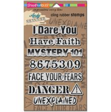 Stampendous Andy Skinner Cling Stamps 9X5.25 - Unexplained