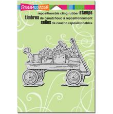 Stampendous Cling Stamp 6.5X4.5 - Garden Wagon