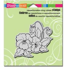 Stampendous Cling Stamp 4.75X4.5 - Pansies
