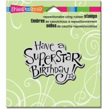 Stampendous Cling Stamp 4.75X4.5 - Superstar Birthday