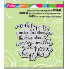 Stampendous Cling Stamp 4.75X4.5 - Baby Makes