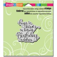Stampendous Cling Stamp 4.75X4.5 - Hugs, Kisses, Wishes