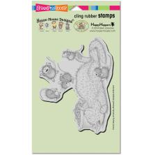 Stampendous House Mouse Cling Stamp 7.75X4.5 - Kitty Bounce
