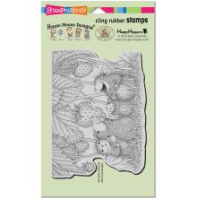 Stampendous House Mouse Cling Stamp 7.75X4.5 - Strawberry Treat