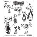 Dyan Reaveley's Dylusions Cling Stamp Collections 8.5X7 - Cat Among Pigeons