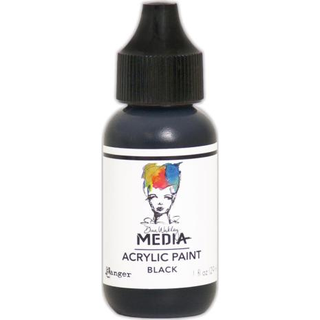 Dina Wakley Acrylic Paint 29ml - Black