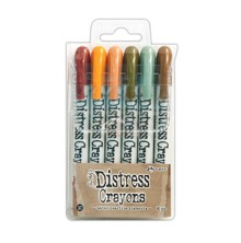 Tim Holtz Distress Crayon Set - 10