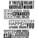 Tim Holtz Cling Stamps 7X8.5 - Motivation 1