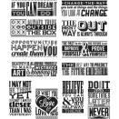 Tim Holtz Cling Stamps 7X8.5 - Mini Motivation