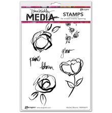 Dina Wakley Media Cling Stamps 6X9 - Abstract Blooms