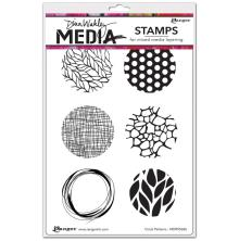 Dina Wakley Media Cling Stamps 6X9 - Circle Patterns