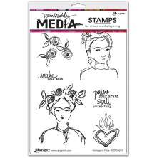 Dina Wakley Media Cling Stamps 6X9 - Homage To Frida