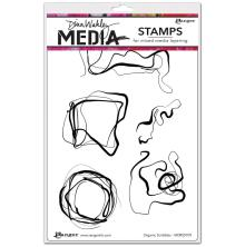 Dina Wakley Media Cling Stamps 6X9 - Organic Scribbles