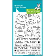 Lawn Fawn Clear Stamps 4X6 - Meow You Doin'