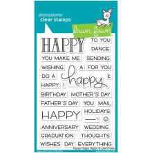 Lawn Fawn Clear Stamps 4X6 - Happy Happy Happy