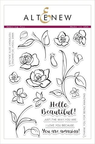 Altenew Clear Stamp 6X8 22/Pkg - Amazing You