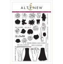 Altenew Clear Stamps 23/Pkg - Life is Beautiful