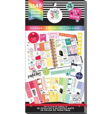 Me & My Big Ideas Create 365 Happy Planner Sticker Value Pack - Rainbow CLASSIC