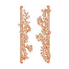 Tonic Studios Fanciful Florals - Posy Pillars Strips Dies 1536E
