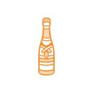 Tonic Studios Rococo Celebration – Champagne Bottle 1494E