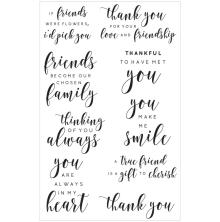 Kaisercraft Clear Stamps 6X4 - Friend Background Sentiments