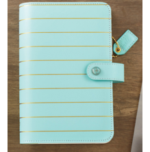 Websters Pages Personal Planner Kit - Blue W/Gold Stripe