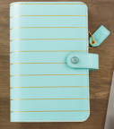 Websters Pages Color Crush Personal Planner Kit - Blue W/Gold Stripe