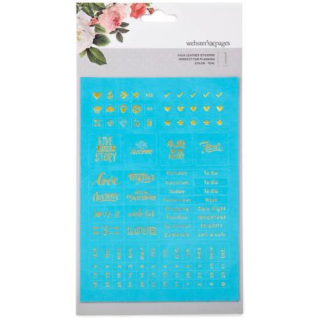 Webster´s Pages Color Crush Planner Foil Embossed Stickers - Teal UTGÅENDEWords