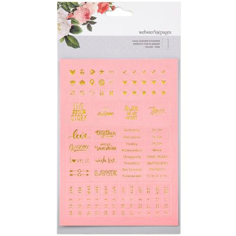 Webster´s Pages Color Crush Planner Foil Embossed Stickers - Pink UTGÅENDEWords