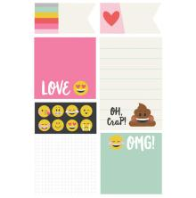 Simple Stories Carpe Diem Sticky Notes - Emoji Love UTGÅENDE