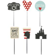 Simple Stories Carpe Diem Decorative Clips 6/Pkg - Say Cheese III UTGÅENDE