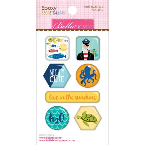 Bella Blvd Epoxy Stickers - Secrets Of The Sea Boy UTGÅENDE