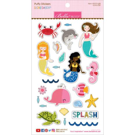 Bella Blvd Puffy Stickers - Secrets Of The Sea Girl UTGÅENDE