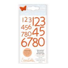 Tonic Studios Essentials Simple Type Dies - Attraction Numerals 1683E