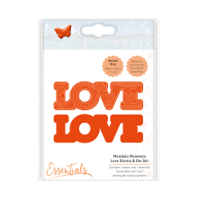 Tonic Studios Mandala Moments – Love Stamp & Die Set 1542E