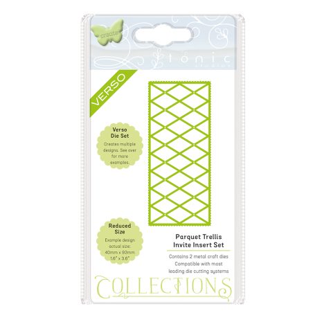 Tonic Studios Invite Die Collection – Parquet Trellis 1509E