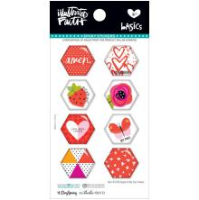 Bella Blvd Illustrated Faith Hexies Epoxy Stickers - Apple Of My Eye UTGÅENDE