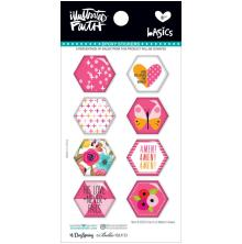 Bella Blvd Illustrated Faith Hexies Epoxy Stickers - One In A Melon