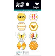 Bella Blvd Illustrated Faith Hexies Epoxy Stickers - Bananas For You