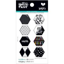 Bella Blvd Illustrated Faith Hexies Epoxy Stickers - Black Eyed Pea UTGÅENDE