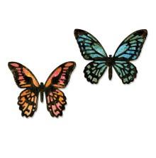Tim Holtz Sizzix Thinlits Dies 4/Pkg - Detailed Butterflies, Mini