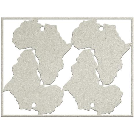 FabScraps Call From The Wild Die-Cut Chipboard Word - 4 Africa Tags