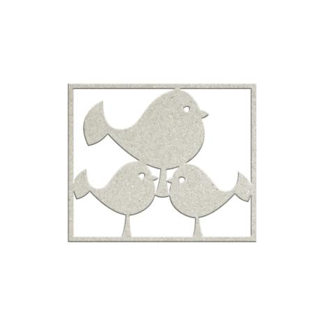 FabScraps Woodlands Friends Die-Cut Chipboard Shape - 3 Birds
