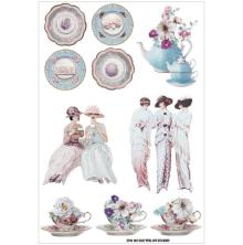 FabScraps For The Love Of Tea Stickers - Tea Party