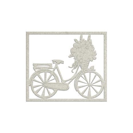 FabScraps Lavender Breeze Die-Cut Chipboard - Bicycle
