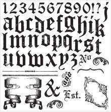 Prima Marketing Iron Orchid Designs Decor Clear Stamps 12X12 - Alpha II