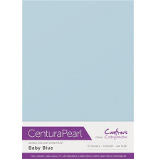 Crafters Companion Centura Pearl Card Pack A4 10Pkg 300gr - Baby Blue