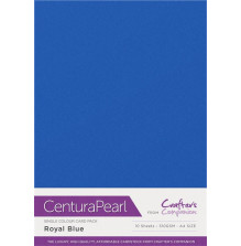 Crafters Companion Centura Pearl Card Pack A4 10Pkg 300gr - Royal Blue